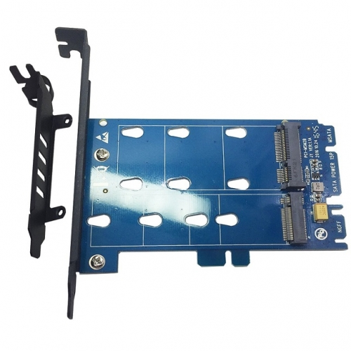 GLOTRENDS 2 in 1 M.2 SATA Adapter Card and mSATA SSD Adapter Card