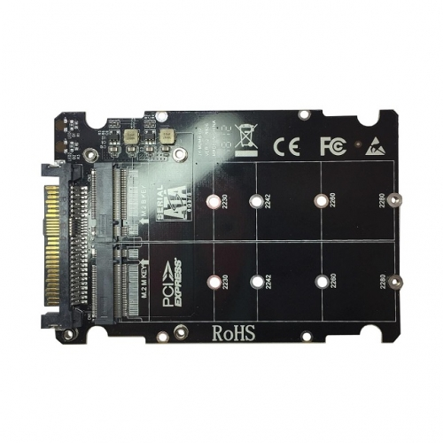 GLOTRENDS 2 in 1 M.2 NVMe to U.2 Adapter or M.2 SATA to SATA III Adapter