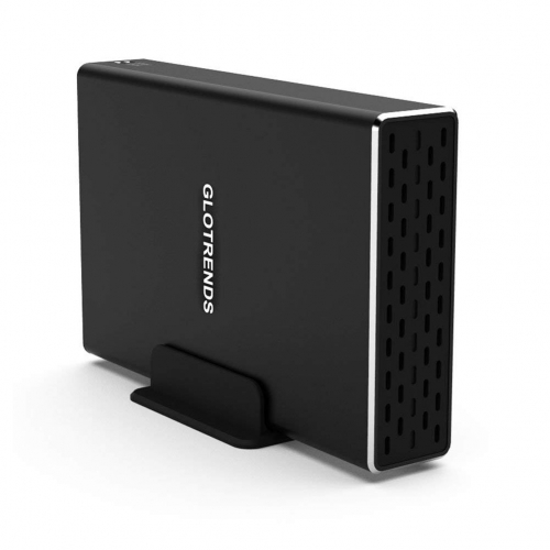 GLOTRENDS 2-Bay RAID Enclosure with 10Gbps USB C Port for 2.5 inch SATA Hard Drive