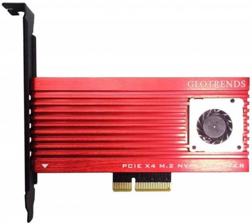 GLOTRENDS M.2 PCIE Adapter with Aluminum Panel Built-in FAN