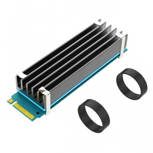 GLOTRENDS M.2 Heatsink for 2280 M.2 SSD with Silicone Thermal Pad (22x70x10mm)