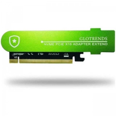 GLOTRENDS 22110 M.2 PCIE Adapter Card with Full Covering Submarine Shape Aluminum Panel