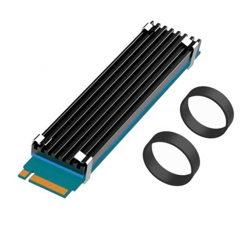 GLOTRENDS M.2 Heatsink NVME Heatsink for 22110 M.2 SSD with Silicone Thermal Pad (22x100x3mm)