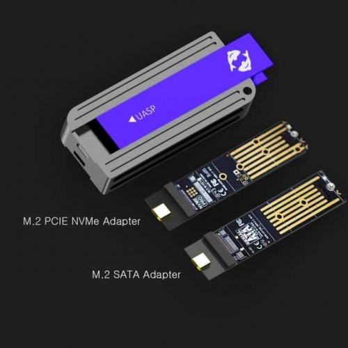 Key M ,Trim UASP S.M.A.R.T Support GLOTRENDS 2 in 1 M.2 NVME to USB C and USB A Adapter Enclosure for NVME M.2 SSD NVME-A/&C