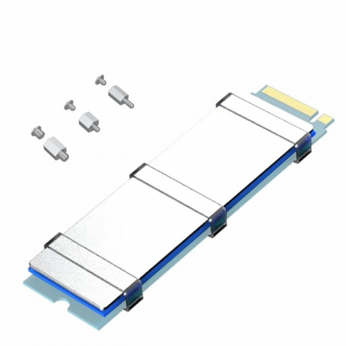 GLOTRENDS M.2 SSD Mounting Screw Kit and M.2 Heatsink for ASUS/MSI/Gigabyte etc MB